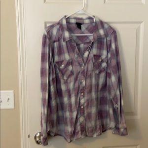 Plaid western shirt.  Torrid size 0